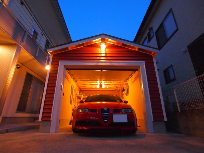 木製ガレージのモデルガレージです